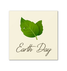 earth day world environmen day save the earth or vector image