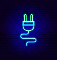 Electricity neon sign vector