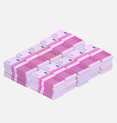 Euros money stack vector