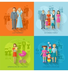 Family Icon Flat vector