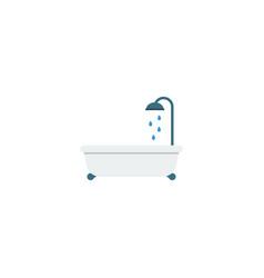 flat icon bathtub element of vector image