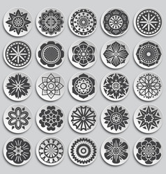Flower pattern icons set on background for graphic vector
