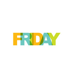 friday phrase overlap color no transparency vector image