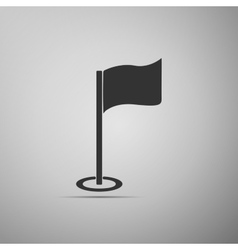 Golf flag icon on grey background Adobe vector
