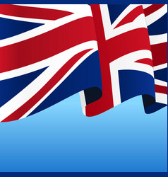 great britain flag wavy abstract background vector image