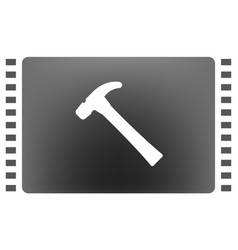 hammer flat style icon vector image