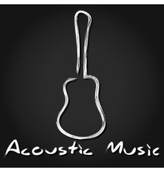 Hand drawn acoustic guitar vector