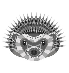 hedgehog head logo decorative emblem vector image