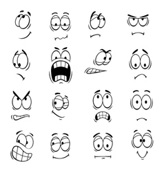 Human cartoon eyes emoticons symbols vector