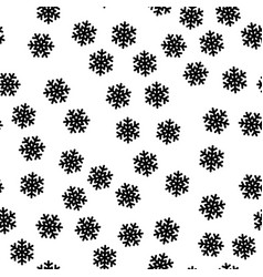 it is snowing seamless pattern of snowflakes vector image