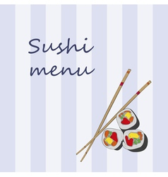 Japanese cuisine restaurant sushi menu cover templ vector image