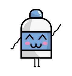 Kawaii cute funny ointment pharmaceutical medicine vector