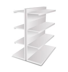light empty store 3d trade shelves space realistic vector image