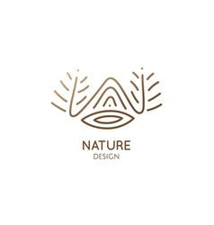 Linear landscape logo vector