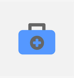 medical kit flat icon isolated on white background vector image