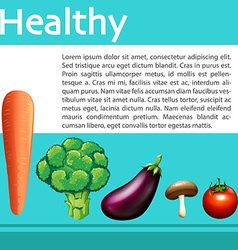 Mix vegetables on healthy poster vector