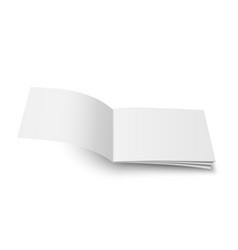 Mock up of magazine white blank cover vector