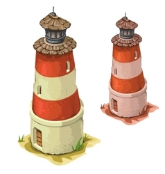 Old tower lighthouse on a white background vector