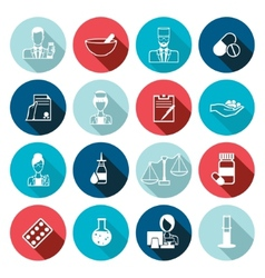 Pharmacist icon outline set vector image