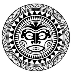 fc492bd4e Polynesian tattoo design mask frightening masks vector ...