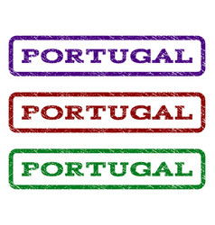 portugal watermark stamp vector image