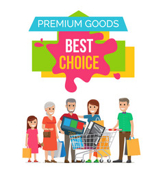 premium goods best choice on vector image