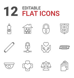 Protection icons vector