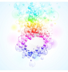 Rainbow bubbles vector