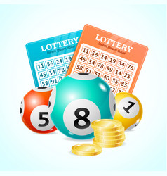 Realistic detailed 3d lotto concept card vector