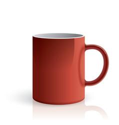 Red mug vector