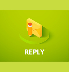 Reply isometric icon isolated on color background vector