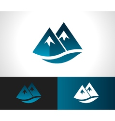 Rocky mountain icon vector