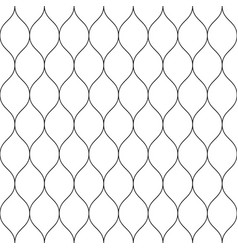 seamless wired netting fence simple black vector image