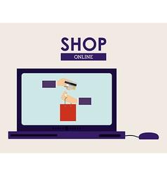 Shop design vector