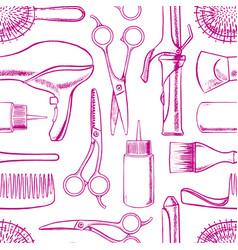 Sketch hairdressing equipment vector