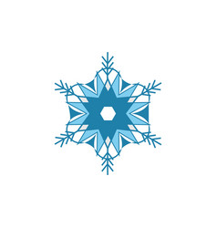 snowflake blue sign silhouette design blue vector image