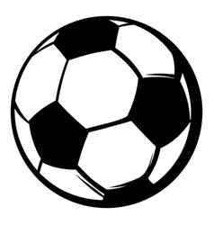 Soccer ball icon icon cartoon vector
