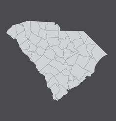 South carolina counties map vector