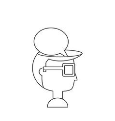 speech bubble design concept vector image