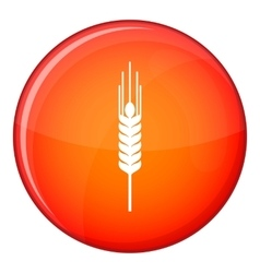 Stalk of ripe barley icon flat style vector
