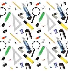 Stationery tools pattern Color vector