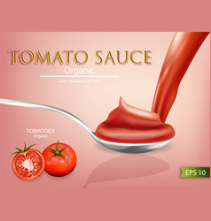 tomato sauce realistic mock up product vector image