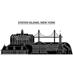 Usa staten island new york architecture vector