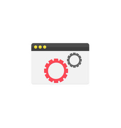website optimization flat icon vector image