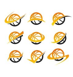 Basketball Logo Icons vector image