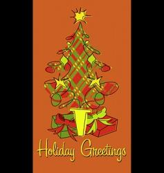 holiday plaid vector image