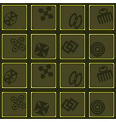 Seamless background with adinkra symbols vector