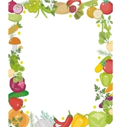 Vegetables square frame with place for text Flat vector image vector image