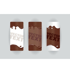 chocolate splodge banners vector image vector image