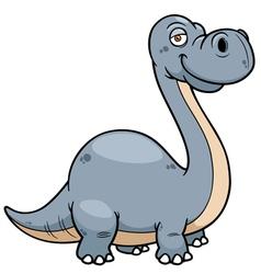 Dinosaur brontosaurus vector image vector image